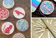 Embroidery on wood - DIY Inspiration