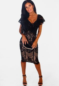 Shop women s midi dresses at Pink Boutique - from lace dresses to black  dresses 6b705dcb0