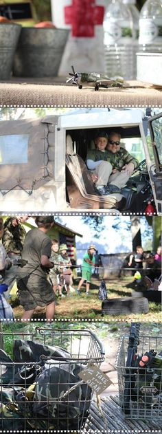 Army theme birthday party