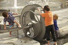 water wheel play Darling Quarter   - ASPECT Studios
