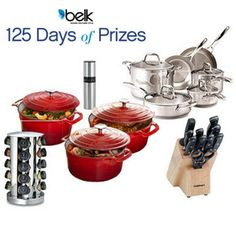 Look what prize we're cooking up today! Enter now for a chance to win a new set of cookware and kitchen tools! #belk125