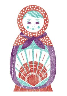 SALE Matryoshka Russian Nesting Doll Digital by pressbound