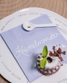 Poesie et Table Papierservietten Krümelmonster von räder