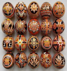 20 nice real hand made hutsul Pysanky. These are hen's eggs, that are emptied ( hand blown) and painted by using a traditional wax technique, then lacquered. | eBay!