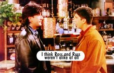 I think Ross and Russ were alike. I think the names were a giveaway