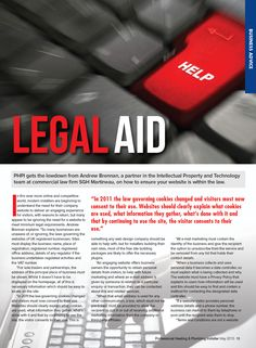 Client: SGH Martineau Outlet: PHPI magazine Topic: Website Legal (Andrew Brennan - IP) - Part 1 #law #legal #websites #compliance