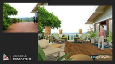 """Check out my #interiordesign """"Balcony Retreat"""" from #Homestyler http://autode.sk/1oJmkgc"""