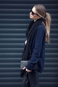I love the ponytail! The fashion! The sunnies! Minimal + classic- simple + stunning!
