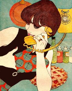 Every woman needs a phone extension in the kitchen - at least that was the message in the ad by the telephone company.