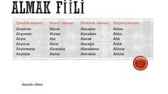 almak fiili learn turkish aprendre turc