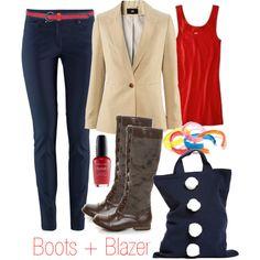 Boots Blazer T-Shirt Trousers Vegan
