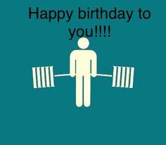 Birthday Wishes, Birthday Cards, Happy Birthday, Crossfit Funny, Happy B Day, Eat Cake, Celebration, Gym, Frases