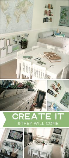 {Create It and They Will Come: Playful Learning Spaces} *the little changes we make in our children's spaces can make a big difference in creativity