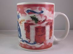 Starbucks Christmas Coffee Mug Cup Deborah Reinhart Presents Gifts