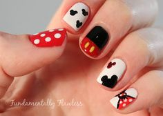 "Fundamentally Flawless: Polish Party November - ""Disney"" - Micky and Minnie Mouse Disney Nail Art"