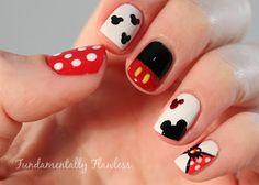 "Fundamentally Flawless: Polish Party November - ""Disney"" - Micky and Minnie Mouse Disney Nail Art"