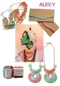 Ethnic look with Alibey accessories  #etnico #alibey #accessories #ethnic #pendants #purses #necklaces #bracelets