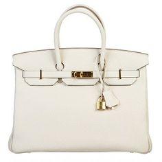 Hermes Craie (Off White) Togo Leather 35cm Birkin Handbag GHW at SnobSwap