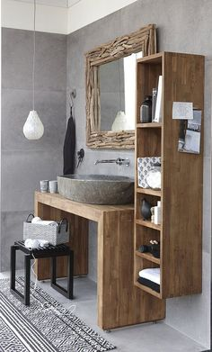 Some space in the house has a small dimension to save things, such as the bathroom. Keep every little thing to examine and simplify your morning regimen with these small bathroom storage ideas Very Small Bathroom, Small Bathroom Storage, Diy Bathroom Decor, Bathroom Interior, Modern Bathroom, Bathroom Ideas, Bathroom Furniture, Teak Bathroom, Natural Bathroom