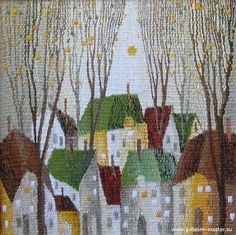 Sergey Saltykov - simple but elegant small city design - Gobelin tapestry