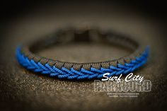 Paracord Thin Fishtail with Center Stitch. by SurfCityParacord