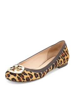 Reva Leopard-Print Calf Hair Flat at CUSP.