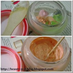 DIY FACEPRIMER   Start off with a 1:1 ratio aloe gel and water based moisturizer.  Add a pea-sized blob of sunscreen (opt).  Add a few drops of the liquid foundation (opt)  Add a couple of pinches of loose powder.  Blend everything up using a spatula or wooden spoon.You should get an even consistency, not too runny which means you have either added too much moisturizer or foundation.