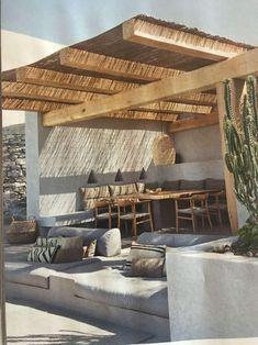slab of bamboo as a pergola cover #pergola #backyardLandscaping #backyardLandscapingIdeas #landscaping #cheapLandscapingIdeas #landscape #pavilion #curbAppeal #outdoorliving #outdoorShade Pergola Patio, Backyard Patio, Pergola Cover, Modern Pergola, Pergola Kits, Pergola Ideas, Small Pergola, Patio Roof, Gravel Patio