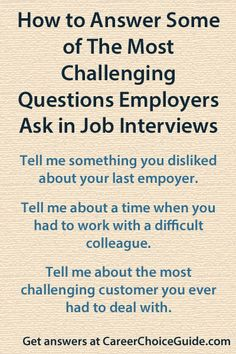 Get answers to tough interview questions