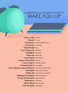 The playlist that will get your teen out of bed tomorrow morning! school tips, waking teens up on time, scheduling, playlists for teens, youth and tech