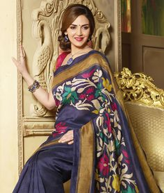 Embrace yourself in these wonderful and awe inspiring drapes which will take your magnificence to another level. Indulge in the most intricately and precisely woven sarees to give you a boost of confidence. They are available in contrasting colours and multiple patterns, so shop now!BRAND: BrijrajCATEGORY: Saree with Unstitched BlouseARTICLECOLOURMATERIALLENGTHSareeBlue and MultiBhagalpuri Art Silk 5.40 metersBlousePinkBhagalpuri Art Silk 0.80 meterWe would always want to send you what we…