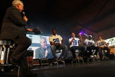 Murray, Austin, Bryant and Lee answer questions from Brad Sham, the voice of the Dallas Cowboys during Fan Fest