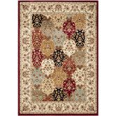 Found it at Wayfair - Majesty Red/Creme Area Rug