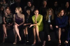 Hilary Duff, Jennifer Morrison, Jamie Chung, Ashley Madekwe, Abbie Cornish and Naya Rivera attends the Monique Lhuillier Fall 2016 fashion show during New York Fashion Week: The Shows at The Arc, Skylight at Moynihan Station on February 13, 2016 in New York City.