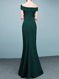 Elegant Slit Off Shoulder Statement Dress