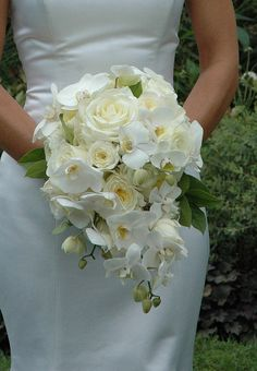 White orchid bouquet by Maureen deBruyn designs