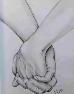 Pencil Drawing Images, Pencil Drawings Of Love, Art Drawings Sketches Simple, Couple Drawings, Realistic Drawings, Sketches Of Hands, Drawings Of Hands, Easy Sketches To Draw, Hand Pencil Drawing