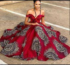Elegant Ankara dress Ankara fashion African wedding dress African clothing for women womens outfit Trendy African fashion African Prom Dresses, African Wedding Dress, African Dresses For Women, African Attire, African Fashion Dresses, Ankara Fashion, African Women, South African Dresses, Nigerian Fashion