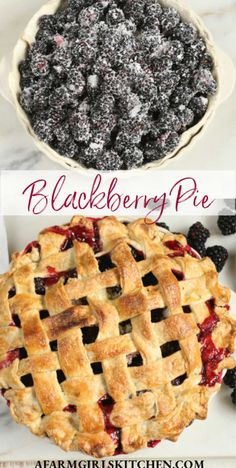 Sweet, juicy blackberries baked into a flaky buttery pie crust for this homemade blackberry pie recipe. This is the ultimate pie recipe with homemade blackberry pie filling. Use homemade OR store-bought pie crust. #blackberrypie #pie #pierecipes #piecrust #pastryrecipes #Southernrecipes #dessert #blackberry