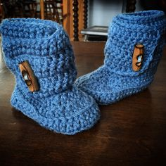Boy Baby Booties for Timmy