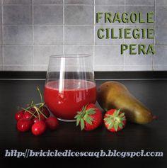 SUCCO DI CILIEGIE, FRAGOLE E PERA