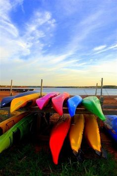 Prince Edward Island / PEI Photograph. Kayaks at by fotostrudel