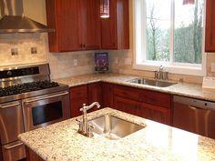 Granite countertops, tile backsplash | Flickr - Photo Sharing!