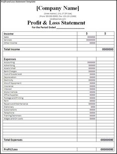 Income and Expense Statement Template . 28 Income and Expense Statement Template . Profit and Loss Statement Template Doc Pdf Page 1 Of 1 Small Business Bookkeeping, Small Business Plan, Small Business Accounting, Accounting And Finance, Business Marketing, Business Ideas, Accounting Notes, Forensic Accounting, Accounting Classes