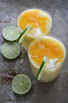 How's this for refreshing? Mango, Coconut and Orange  Crush (grown-up style).