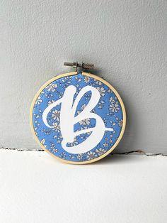 Liberty's Alphabet Decor Hoops - B