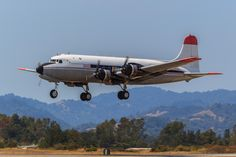 """Douglas DC-4 at the Pacific Coast Air Museum's """"Wings Over Wine Country"""" Air Show held at the Charles M Schulz -Sonoma County Airport."""