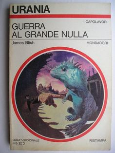 """The novel """"A Case of Conscience"""" by James Blish was published for the first time in 1958. The first part was published as a novella in the magazine """"If"""" in 1953. The novel won the Hugo Award for best novel of the year. In 2004, the original novella won the Retro Hugo Award given to works published 50 years earlier. Cover art by Karel Thole for an Italian edition. Click to read a review of this novel!"""