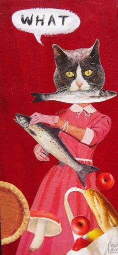 WHAT (Domestic Cat) by Zoa Ace Rose Oil Painting, Felix The Cats, Domestic Cat, Old Master, Mixed Media Collage, Animal Paintings, Figure Painting, Oil On Canvas, Artsy