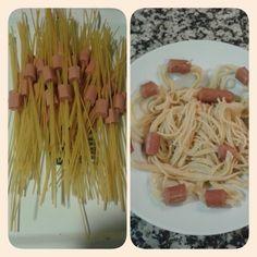 Espaguetis con salchichas:-)